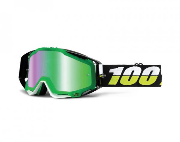 100% Crossbrille Racecraft Simbad - grün verspiegelt