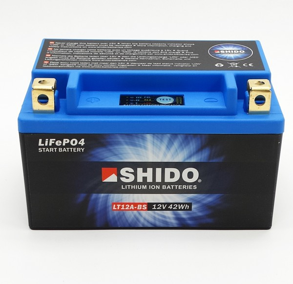 Shido LT12A-BS Lithium Ionen Batterie 12V LiFePO4 (YT12A-BS)