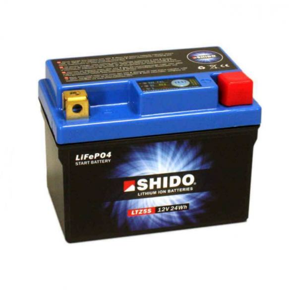 Shido LTZ5S Lithium Ionen Batterie 12V LiFePO4 (YTZ5S-BS, YTZ5S)