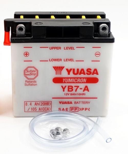 Yuasa YB7-A Blei-Säure Batterie 12V 8AH - trocken ohne Säure (CB7-A)