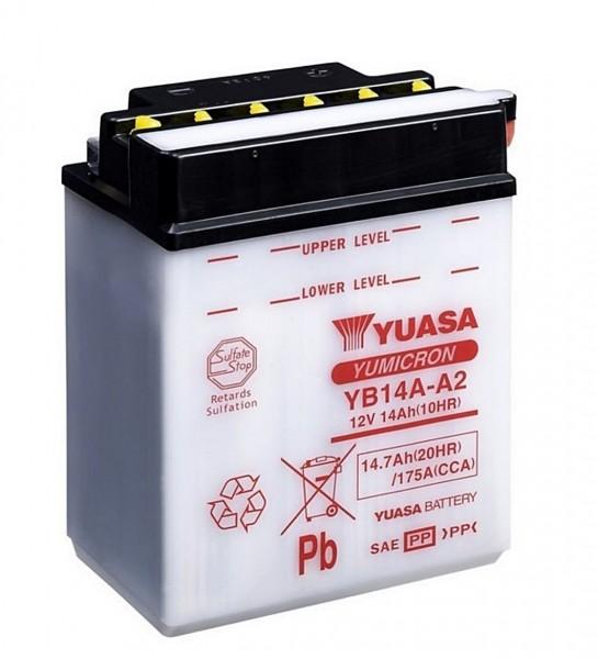 Yuasa YB14A-A2 Blei-Säure Batterie 12V 14AH - trocken ohne Säure (CB14A-A2)