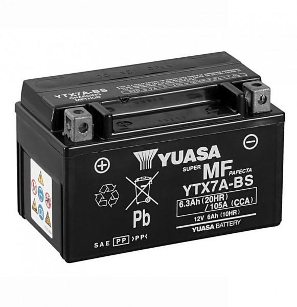 Yuasa YTX7A-BS Batterie AGM 12V 6AH (GTX7A-BS, FTX7A-BS)