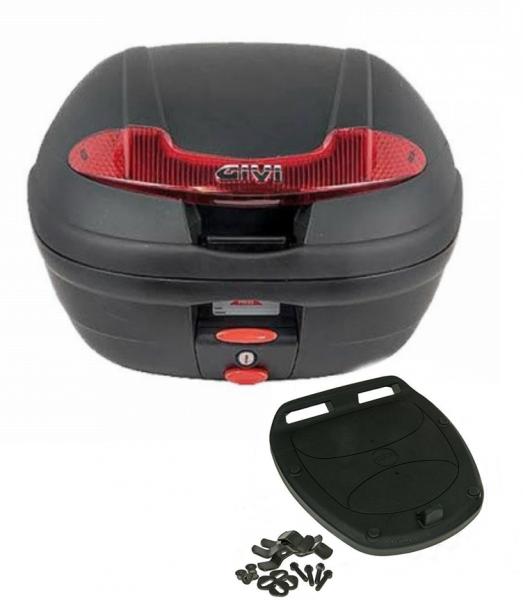 Givi Monolock Topcase E340 N Vision - 34 Liter - schwarz inkl. Montagekit