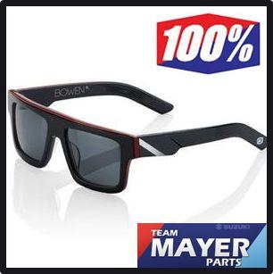 100% Sonnenbrille MX Sunglass Bowen schwarz rot