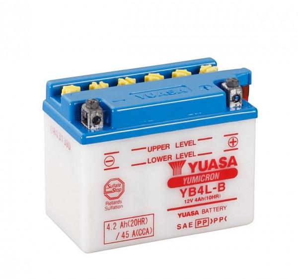 Yuasa YB4L-B Blei-Säure Batterie 12V 4AH - trocken ohne Säure (GM4-3B, FB4L-B)