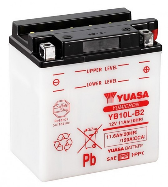 Yuasa YB10L-B2 Batterie 12V 11AH (FB10L-B2, 12N10-3B, CB10L-B2)