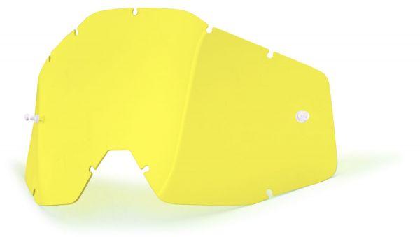 Ersatzglas Gelb für 100% Racecraft, Accuri, Strata MX Brille