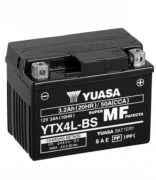 Yuasa YTX4L-BS Batterie AGM 12V 3AH (FTX4L-BS, GTX4L-BS, 50314LF)