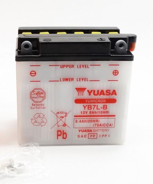Yuasa YB7L-B Blei-Säure Batterie 12V 8AH - trocken ohne Säure (12N7-3B)