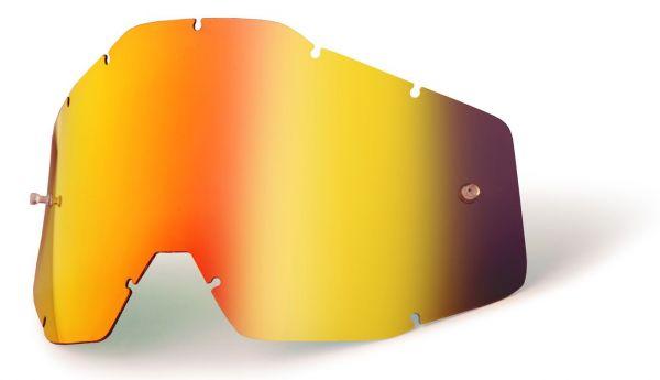 Ersatzglas Rot verspiegelt für 100% Racecraft, Accuri, Strata MX Brille