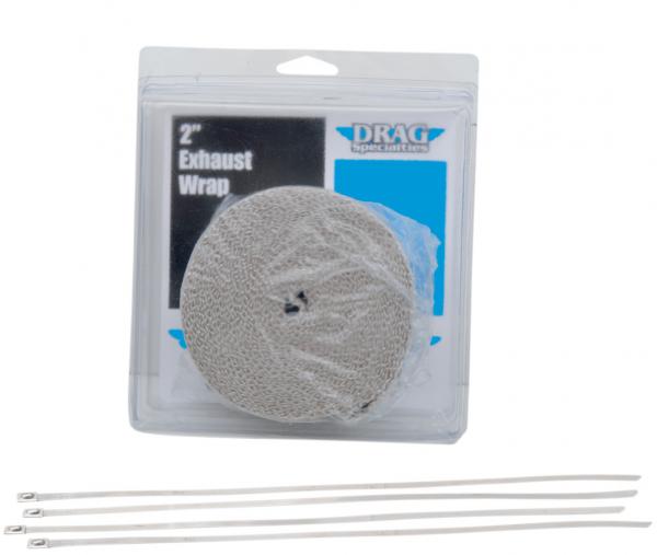 Drag Specialties Auspuffband Hitzeschutzband Set weiß 7,6 m x 50 mm