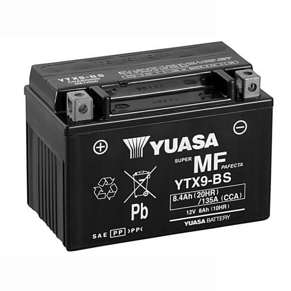 Yuasa YTX9-BS Batterie AGM 12V 8AH (GTX9-BS, ETX9-BS, FTX9-BS, CTX9-BS, 50812LF)