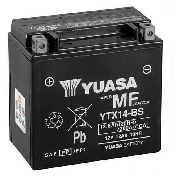 Yuasa YTX14-BS Batterie AGM 12V 12AH (FTX14-BS GTX14-BS 51214LF)