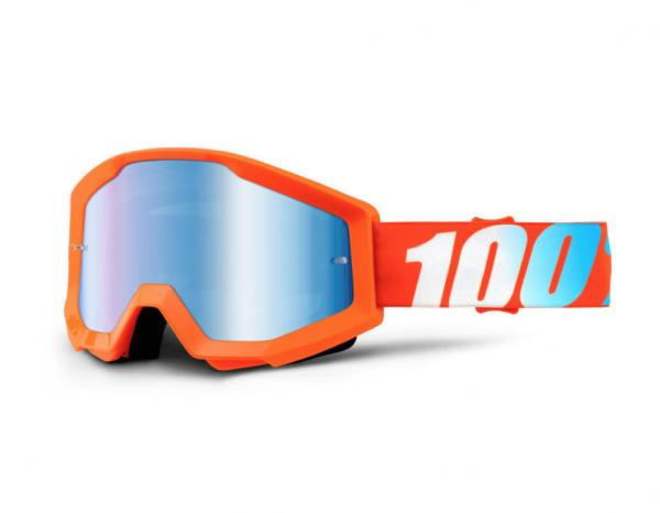 100% Crossbrille Strata Orange - Blau verspiegelt