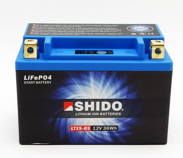 Shido LTX9-BS Lithium Ionen Batterie 12V LiFePO4 (YTX9-BS)