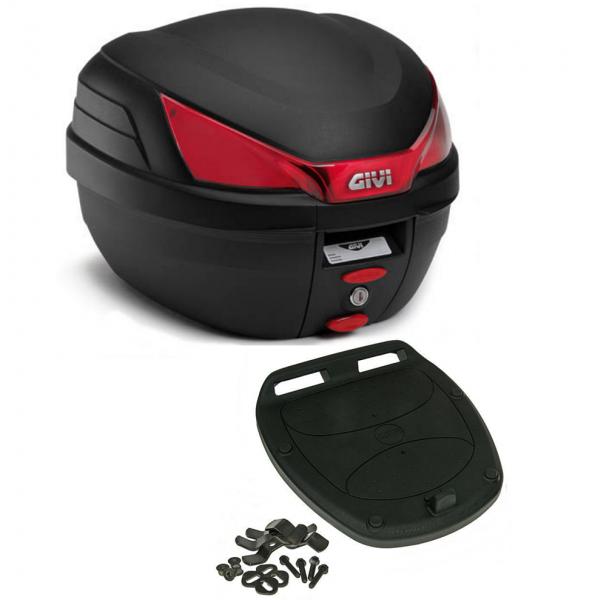 Givi Monolock Topcase B27 Bauletto - 27 Liter - schwarz inkl. Montagekit