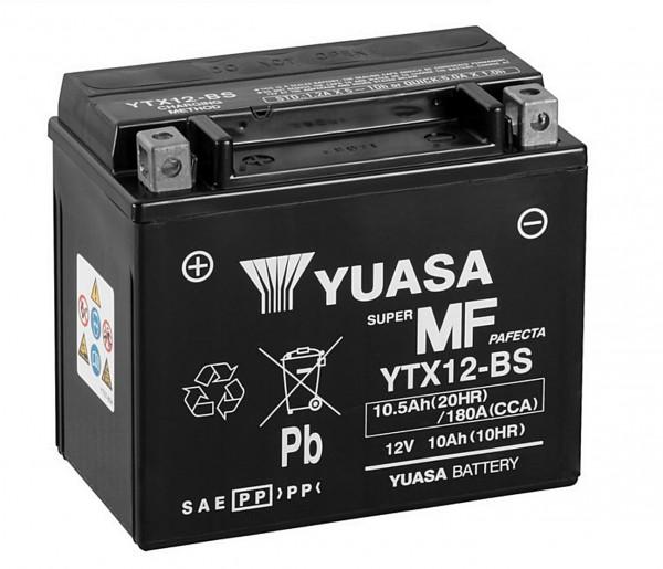 Yuasa YTX12-BS Batterie AGM 12V 10AH (ETX12-BS, FTX12-BS, CTX12-BS, 1012LF)