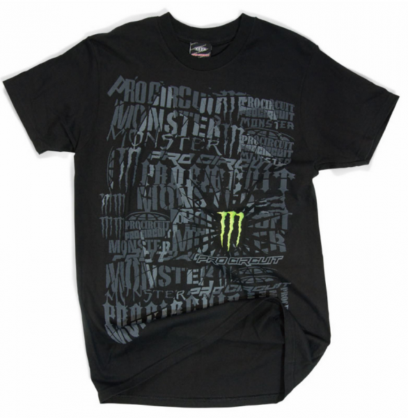 Monster Energy T-shirt Tee Quake Black Pro Circuit Gr. M