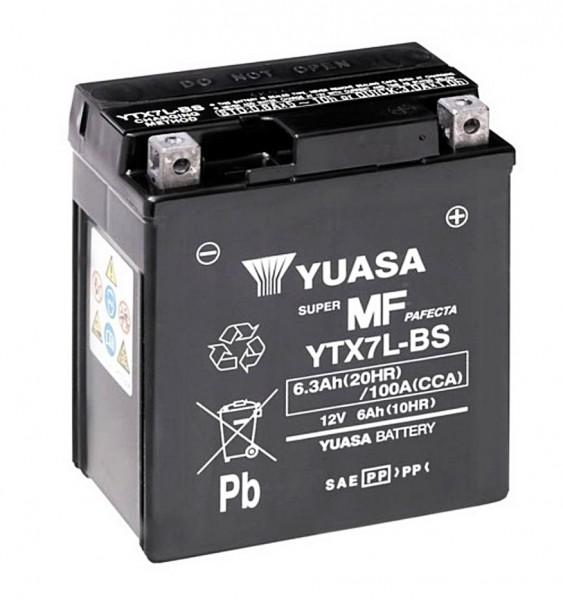 Yuasa YTX7L-BS Batterie AGM 12V 6AH (GTX7L-BS, FTX7L-BS, 50614LF)