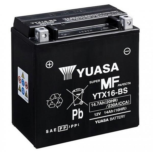 Yuasa YTX16-BS Batterie AGM 12V 14AH (YTX16-4, FTX16-BS)