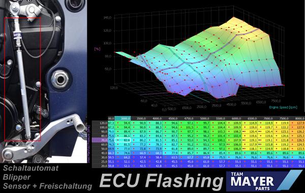 Schaltautomat Quickshifter / Blipper + ECU Flashing Race Suzuki GSX-R 1000 2017-