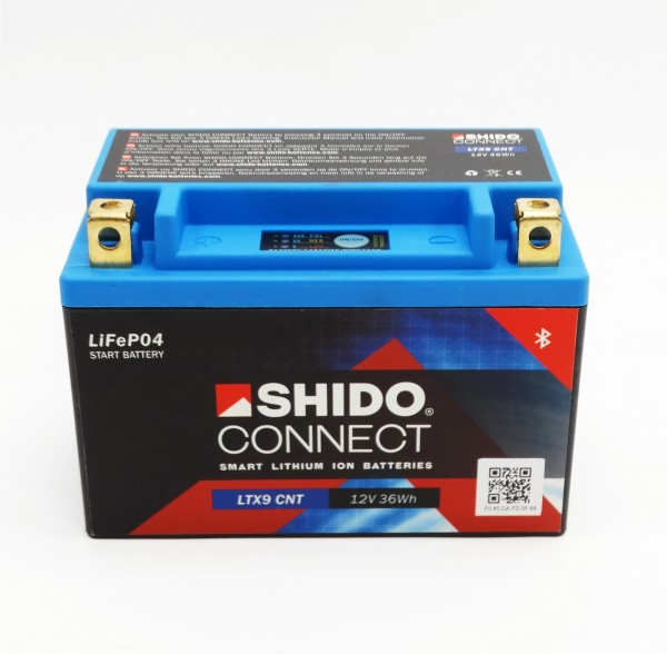 Shido LTX9-BS Lithium Ionen Connect Batterie 12V LiFePO4 (YTX9-BS)