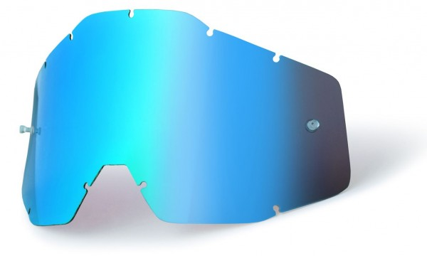 Ersatzglas Blau verspiegelt für 100% Youth Accuri, Strata Kinder MX Brille