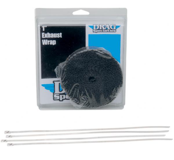 Drag Specialties Auspuffband Hitzeschutzband Set schwarz 7,6 m x 25 mm